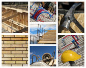 Home Construction Collage — Stock Photo