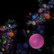 Pink bubble fractal background — Stock Photo