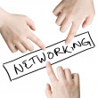 Networking — Stockfoto