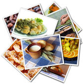 Food photos collage — Stock Photo