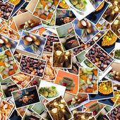 Food photos background — Stock Photo