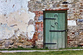 Door and Stone Wall — Stock Photo