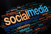 Social Media Words — Stock Photo