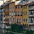 Buildings by the Arno River, Italy - Stock Photo