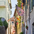 Narrow street of Asciano, Italy — ストック写真