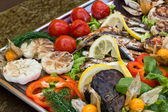 Grilled seafood — Stock Photo