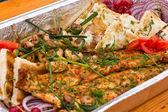 BBQ fish dish — Stock Photo