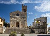 A igreja de santa ágata em asciano — Foto Stock