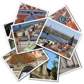 Riga postcards — Stock Photo