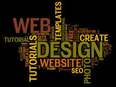 Web Design Related Words — Stockvector