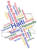 Haiti Map and Cities — Stock Vector