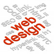Web Design 3D — Stock Vector