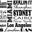 Famous Cities — Stock Vector