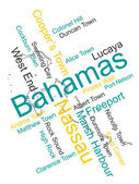 The Bahamas map and cities — Stock Vector