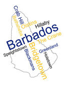Barbados map and cities — Stock Vector