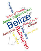 Belize map and cities — Stock Vector
