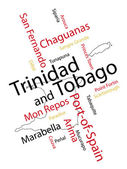 Trinidad and Tobago map and cities — Stock Vector