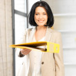 Woman with folder — Stock Photo #10026376
