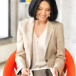 Happy woman with tablet pc computer — Stock Photo #10422954