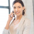 Businesswoman with cell phone — Stock Photo #10423416