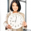Businesswoman with clock — Stock Photo #10523153