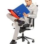 Man with folders — Stock Photo #10523506