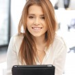 Happy woman with tablet pc computer — Stock Photo #7964524