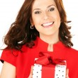 Happy woman with gift box — Foto Stock #7969763