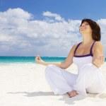 Meditation on the beach — Stock Photo #7970919