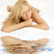 Lovely naked blonde woman — Stock Photo
