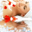 Red petals spa with water — Stock Photo #7976134