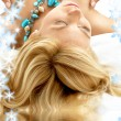 Dreaming blonde in spa — Stock Photo
