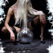 Dark glitterball dance — Stockfoto