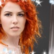 Redhead warrior — Stock Photo