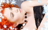 Curly redhead beauty — Stock Photo