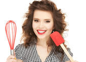Lovely housewife — Stock Photo