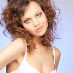 Beautiful woman in bra — Stock Photo
