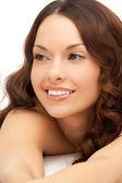 Beautiful woman in spa salon — Foto Stock