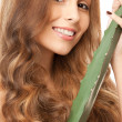 Lovely woman with aloe vera — Stock Photo #8257636
