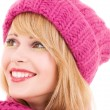 Stock Photo: Happy teenage girl in hat