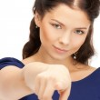 Businesswoman pointing her finger — Stock Photo #8891185