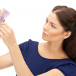 Lovely woman with euro cash money — Stock Photo #8948819