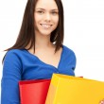 Woman with folders — Stock Photo #9274906