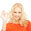 Lovely teenage girl showing ok sign — Stock Photo #9275130