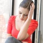Sad teenage girl — Stock Photo #9481427