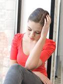 грустная девушка — Стоковое фото
