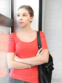 Calm teenage girl — Stock Photo