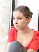 穏やかな 10 代の少女 — ストック写真