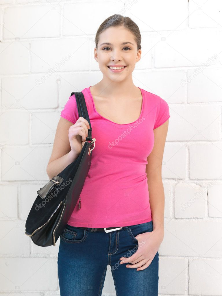 Bright indoors picture of calm teenage girl — Stock Photo #9568949