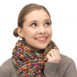 Beautiful woman in muffler — Stock Photo #9626899